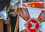 Церемония награждения орденом Жукова 39-й отдельной железнодорожной бригады.png