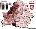 Як галасаваў Столінскі раён на выбарах 1994 года. За Пазняка прагаласавала ад 30 да 40%.jpg