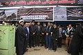 اهداء پرچم حرم علی بن موسی الرضا به هیئت ها یا موکب های مستقر در شهر مهران در ایام پیاده روی اربعین 30.jpg