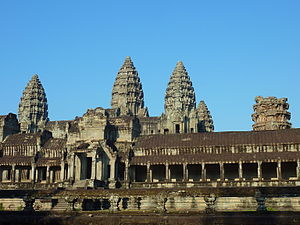 English: Architecture of the Angkor Wat, Cambodia