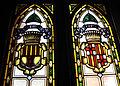 029 Ajuntament de Terrassa, vitralls amb escuts, sala de l'alcaldia.JPG