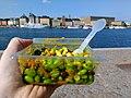08 Vegan lunch brunch outdoor, broad bean salad - vegan lunch in Stockholm, Sweden.jpg