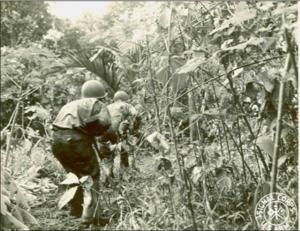 103rd Infantry Regiment (United States) - 103rd Infantry Regiment soldiers, Battle of New Georgia, World War II