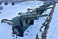 105 mm M101 howitzer Saluttkanoner Kronprinsessens bastion Kristansten festning Trondheim 2019-03-11 (These salute cannons were replaced in November 2019) 07897.jpg
