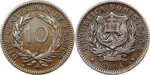 Dominican peso - Image: 10 centesimos