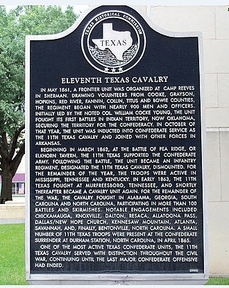 George R. Reeves - Historical Marker to 11th Texas Cavalry, Sherman, Texas