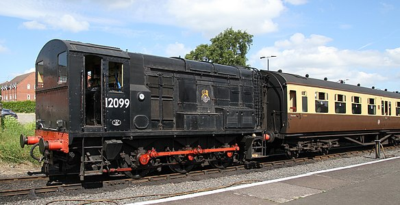 British Rail Class 11 12099 diesel-electric shunting locomotive on the Severn Valley Railway