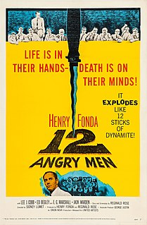 <i>12 Angry Men</i> (1957 film) 1957 American film by Sidney Lumet