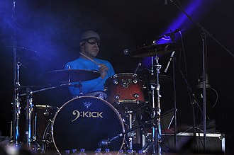 The Aquabats - Richard Falomir (Ricky Fitness) joined the band during their career lull in 2002, eventually serving the longest tenure of any Aquabats drummer.