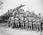 13 pounder 9 cwt AA gun and crew France Aug 1918 IWM Q 7166.jpg