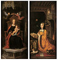 16th-century unknown painters - Diptych with Margaret of Austria Worshipping - WGA23613.jpg