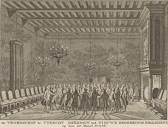 Vroedschap - Vroedschap of Utrecht, 1786.