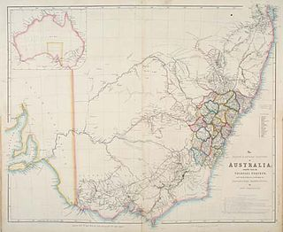 Nineteen Counties area of New South Wales colony to which European settlement was legally restricted from 1826 until 1861