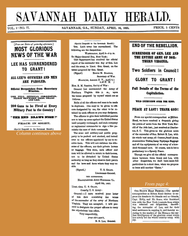 18650416 Lee Has Surrendered to Grant - Savannah Daily Herald.png