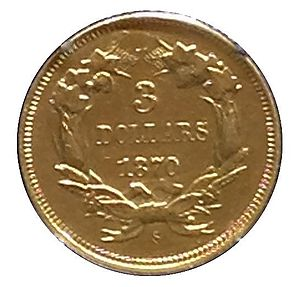 Three-dollar piece - The 1870-S three-dollar piece