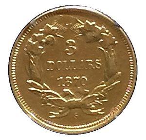 Three-dollar piece - The 1870-S three-dollar piece