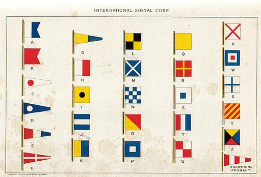 1902 International Code of Signals painting