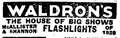 1921 Waldrons BostonGlobe 31March.png
