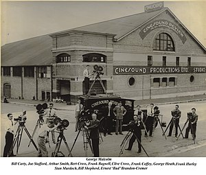 Cinesound Productions - 1931 Cinesound Studio 1 in Bondi Junction, Sydney and Crew
