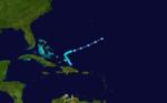 1933 Atlantika tropika ŝtormo 16 track.png