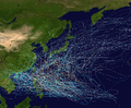 1950-59 Pacific typhoon seasons summary map.png