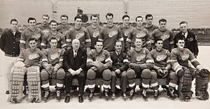 Detroit Red Wings - Team photo of the 1952 Detroit Red Wings. The Red Wings won their fifth Stanley Cup that year.