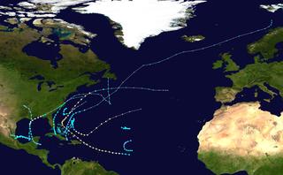 1956 Atlantic hurricane season hurricane season in the Atlantic Ocean