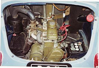 Renault 4CV - The longitudinally-mounted rear engine (1960 750 cc)
