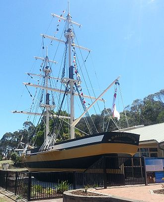 HMS Lady Nelson (1798) - Image: 1986 Replica of HMS Lady Nelson at Mount Gambier