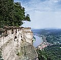 19870827200NR Königstein Festung Königstein Blick zur Königsnase.jpg