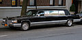 1990 Cadillac Brougham stretch limousine front side.jpg