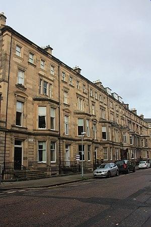 John Balfour, 1st Baron Kinross - 6 Rothesay Terrace, Edinburgh (left)