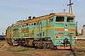 2ТЭ10М-3160, Казахстан, Карагандинская область, станция Балхаш-I (Trainpix 162542).jpg