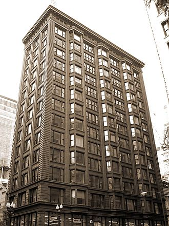 Architecture of Chicago - The Chicago Building is a prime example of Chicago School architecture.