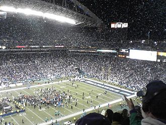 2005–06 NFL playoffs - Seahawks celebrations after winning the NFC Championship