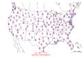 2006-03-13 Max-min Temperature Map NOAA.png