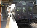 2007-08-26 JR- Yakujin Station,Kakogawa Line JNR103系改造車両 横尾忠則「走れ!Y字路」 8260237.JPG