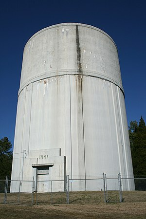 Butner, North Carolina - An old water tower in Butner