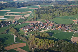 Etzelkofen - Aerial view of Etzelkofen