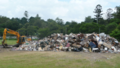 2011 Brisbane Flood damaged household goods stored temporarly in the parks.png