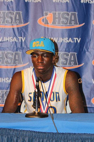 Kendrick Nunn - Nunn with the Simeon Wolverines after winning the 2013 Illinois High School Association championship