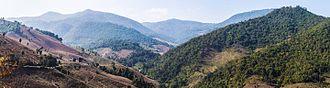 Mae Chaem District - Image: 2013 Pano Mae Chaem District 2