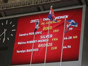 2013 World Championships in Athletics – Women's discus throw - Image: 2013 World Championships in Athletics (August, 12) Women's discus throw