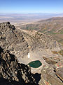 2014-09-24 12 43 58 Tiny unnamed glacial tarn just north of and over 1,000 feet below Hole-in-the-Mountain Peak, Nevada.JPG