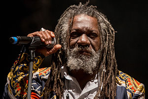 Winston McAnuff on stage in Rudolstadt (Germany), July 2014