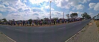 South African general election, 2014 - Voting queue in Midrand, Gauteng