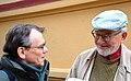 2015-11-02 WikiDACH 2015 Schwerin, (257) Dr. phil Manfred Franz im Gespräch mit Dr. Ralf Gaston Wendt.JPG