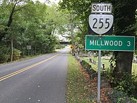 2016-09-28 13 39 13 View south along Virginia State Route 255 (Bishop Meade Road) at Lanham Lane in Briggs, Clarke County, Virginia.jpg