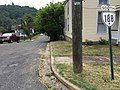 2017-07-21 11 09 16 View south along Virginia State Route 188 (Lafayette Street) at McCormick Boulevard in Clifton Forge, Alleghany County, Virginia.jpg