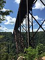 2017-09-08 13 41 51 View southwest across the New River at the New River Gorge Bridge (U.S. Route 19) from Fayette Station Road (Fayette County Route 82) in Fayette, Fayette County, West Virginia.jpg